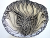 Black and White Foliated Vessel VI, 2013