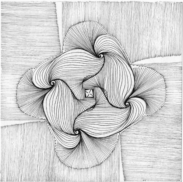drawings, ink on paper